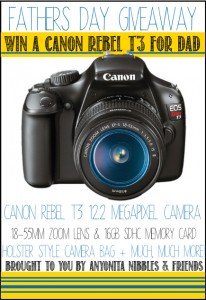 Fathers Day Giveaway! Win a Canon Rebel T3!