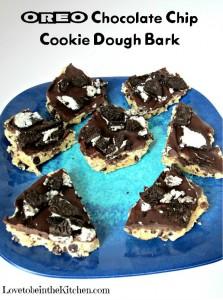 Oreo Chocolate Chip Cookie Dough Bark