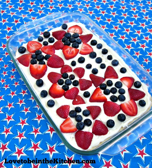 Red, White & Blue Fruit Pizza
