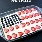 Red, White & Blue Fruit Pizza