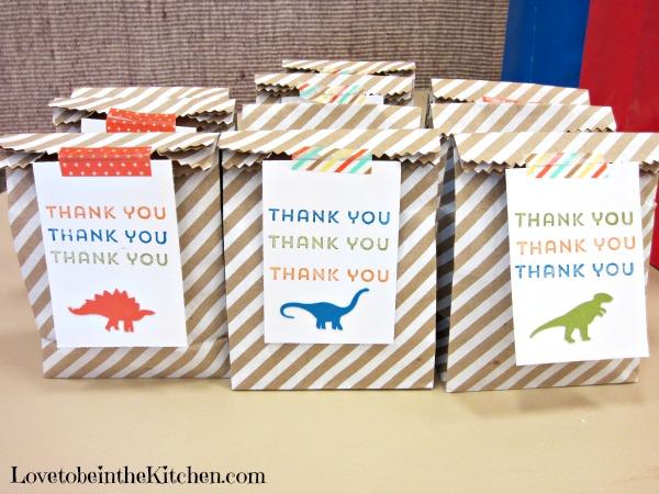 Dinosaur Gift Bags