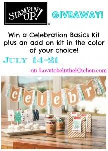 Celebration Basics Kit Stampin' Up Giveaway! {Closed}