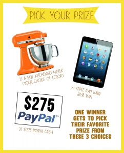 Pick Your Prize Giveaway