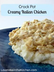 Crock Pot Creamy Italian Chicken