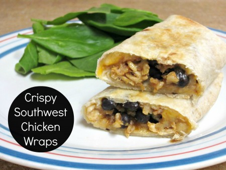 4- Crispy Southwest Chicken Wraps
