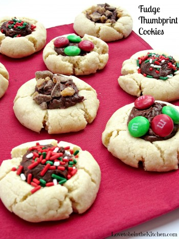 Fudge Thumbprint Cookies