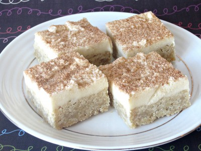 Snickerdoodle Cookie Dough Bars