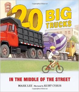 20 Big Trucks in the Middle of the Street
