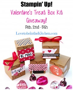 Stampin' Up! Valentine's Treat Box Kit Giveaway!