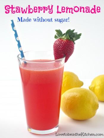 Strawberry Lemonade Made w/o sugar!