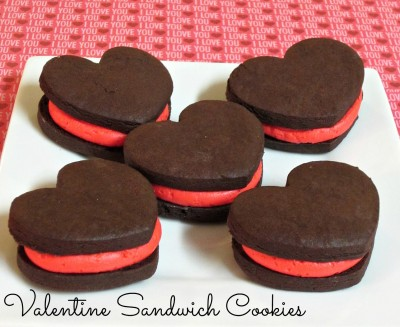 Valentine Sandwich Cookies (Homemade Heart Shaped Oreos)