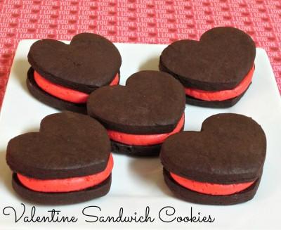Valentine Sandwich Cookies (Homemade Heart Shaped Oreos)