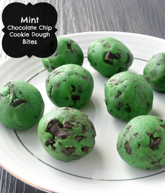 Mint Chocolate Chip Cookie Dough Bites