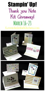 Stampin' Up! Thank you Note Kit Giveaway!