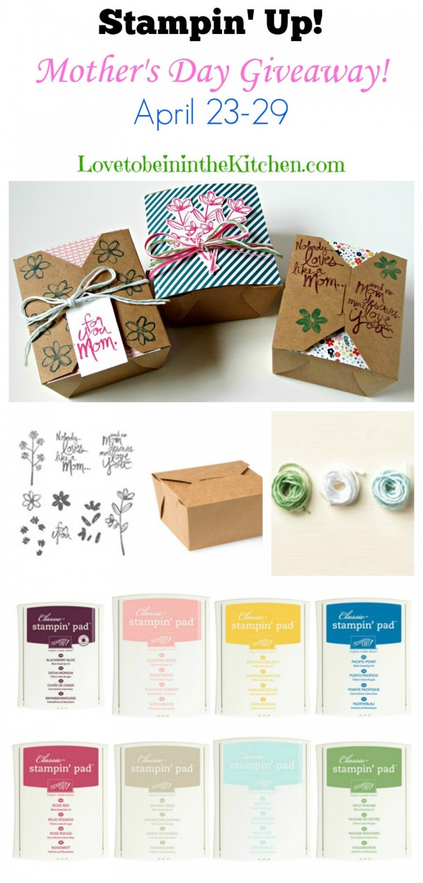 Stampin' Up! Mother's Day Giveaway #giveaway