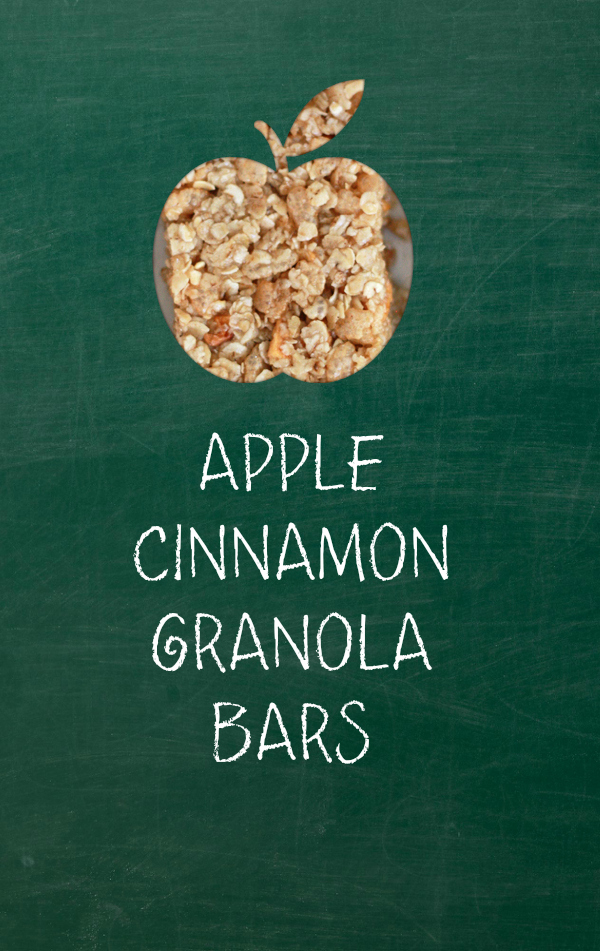Apple Cinnamon Granola Bars (gluten free, vegan)