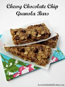 Chewy Chocolate Chip Granola Bars