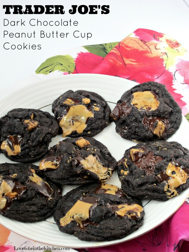 Trader Joe's Dark Chocolate Peanut Butter Cup Cookies