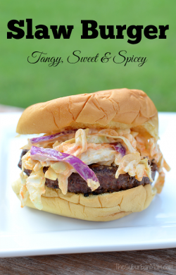 Cabbage and Pineapple Slaw Burger