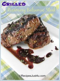 Grilled Rosemary Balsamic Steak