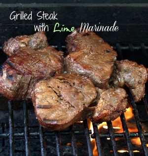Grilled Steak with Lime Marinade from The Gardening Cook