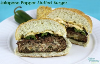 Jalapeño Popper Stuffed Burgers from Gator Mommy Reviews