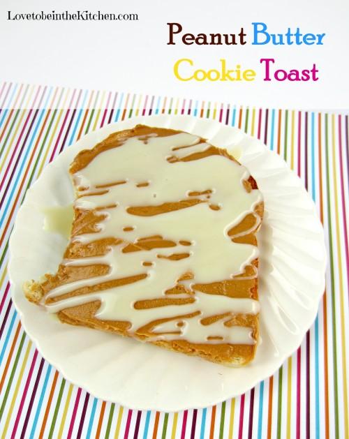 Peanut Butter Cookie Toast