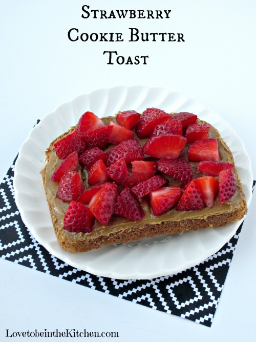 Strawberry Cookie Butter Toast