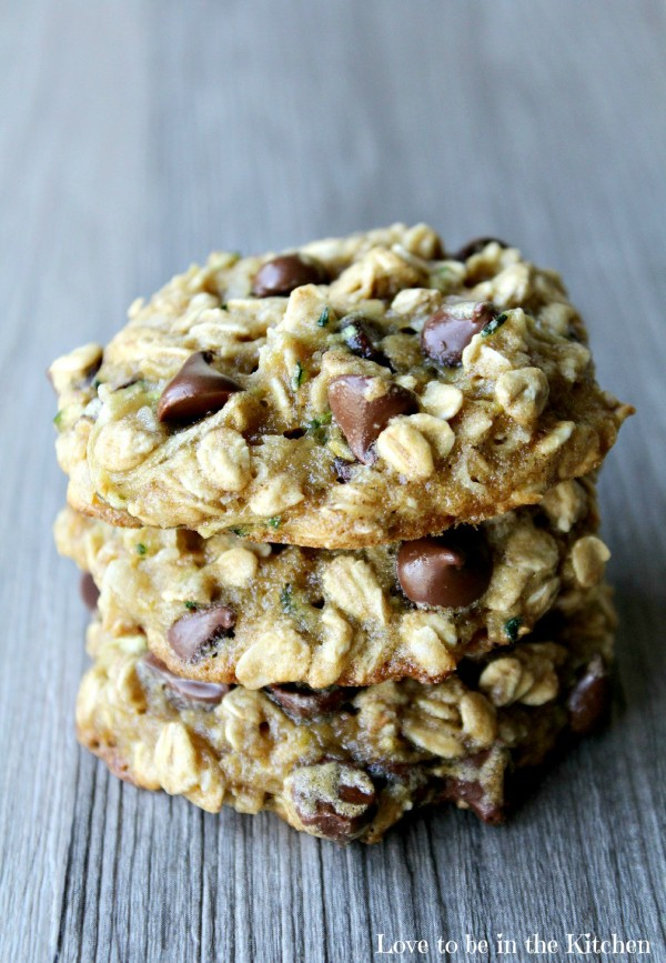 Zucchini Oat Coconut Chocolate Chip Cookies