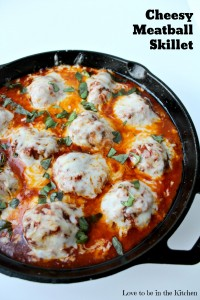 Cheesy Meatball Skillet