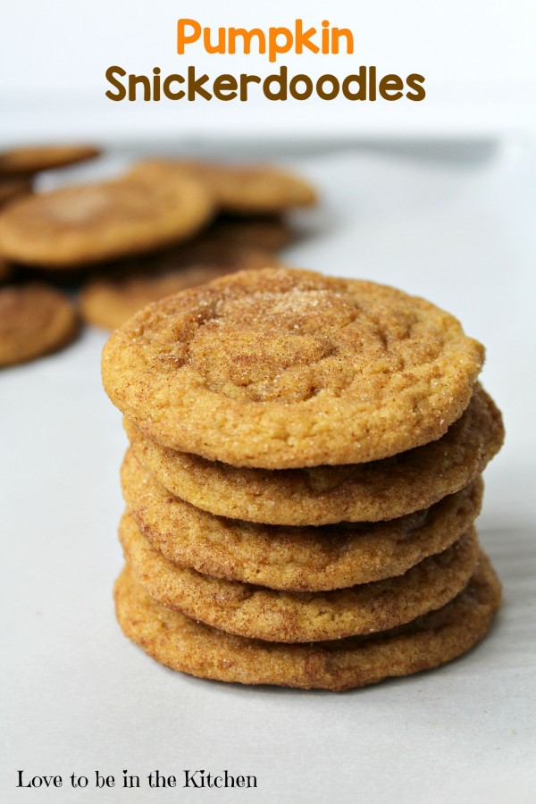 ... Pumpkin Snickerdoodles will quickly become one of your favorite