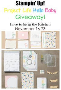 Stampin' Up! Project Life Hello Baby Bundle Giveaway!
