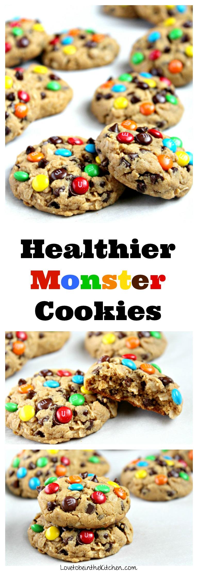 Healthier Monster Cookies