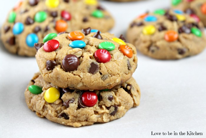 Healthy Monster Cookies - Love to be in the Kitchen