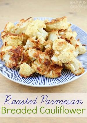 Roasted Breaded Parmesan Cauliflower
