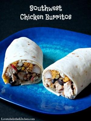 Southwest Chicken Burritos