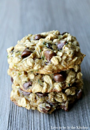 Zucchini-Coconut Chocolate Chip Cookies