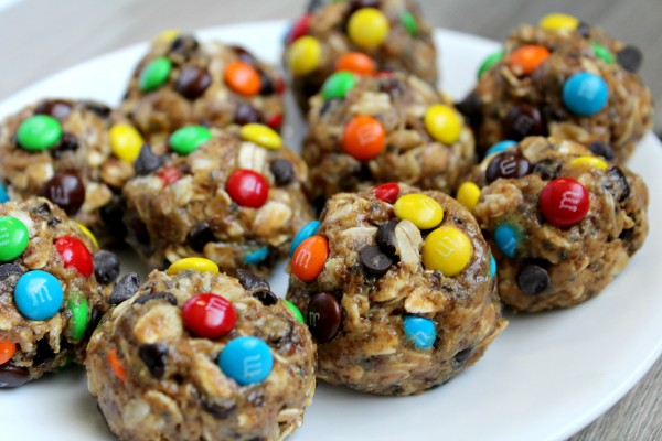 these delicious and energy boosting No Bake Monster Cookie Energy ...
