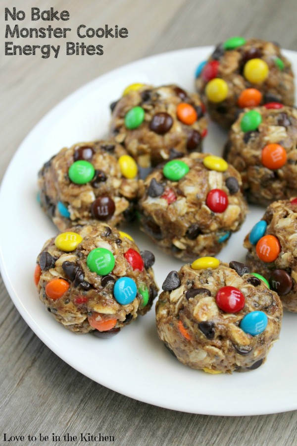 No Bake Monster Cookie Energy Bites are packed full of healthy energy ...