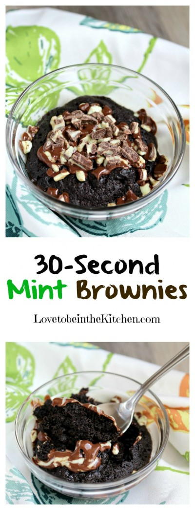 30-Second Mint Brownies