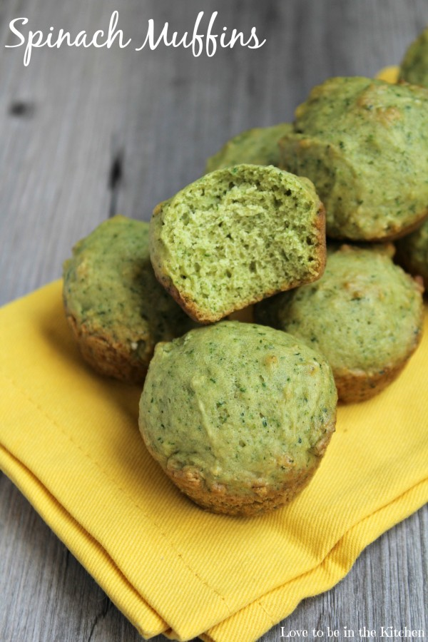 Spinach Muffins - Love to be in the Kitchen