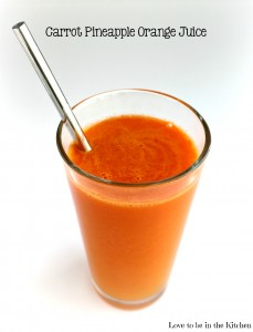 Carrot Pineapple Orange Juice