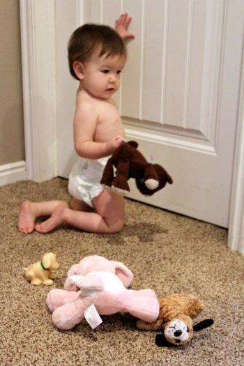 baby girl Huggies diapers