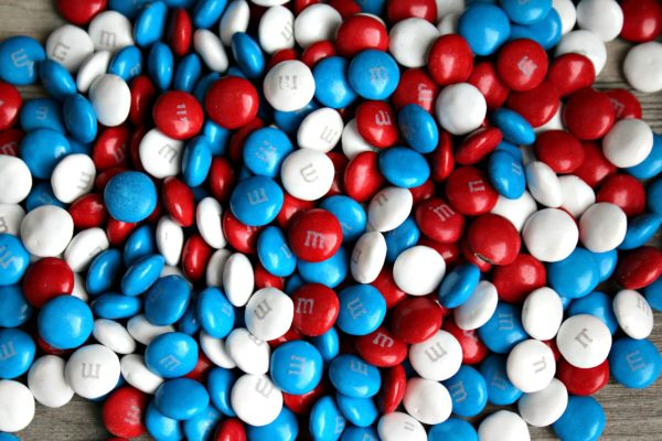 Red White and Blue M&M's