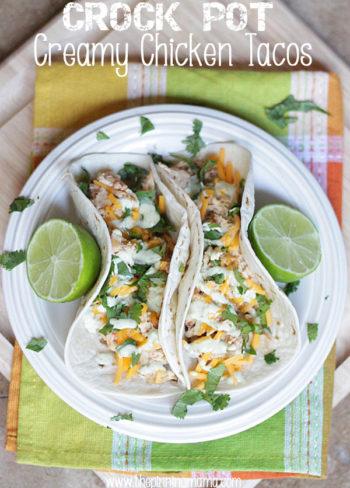 Crock Pot Creamy Chicken Tacos