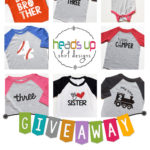 Heads Up Shirt Designs Giveaway #giveaway