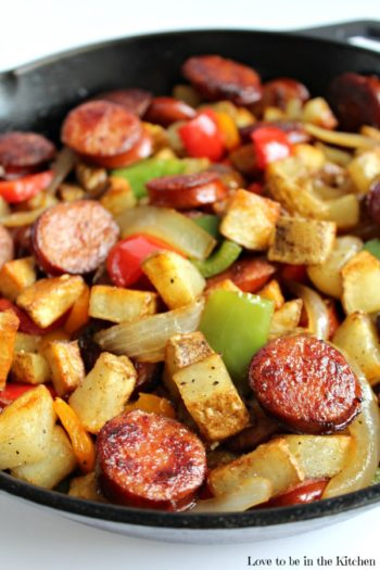Smoked Sausage Hash from Love to be in the Kitchen