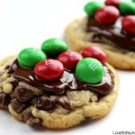 Christmas M&M Explosion Cookies