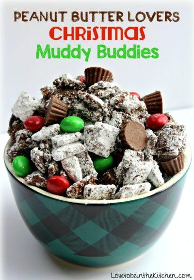 Peanut Butter Lovers Christmas Muddy Buddies