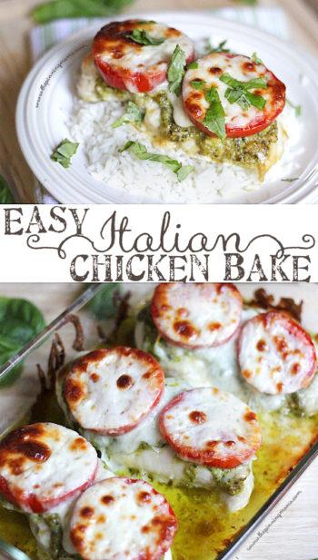 Easy Italian Chicken Bake